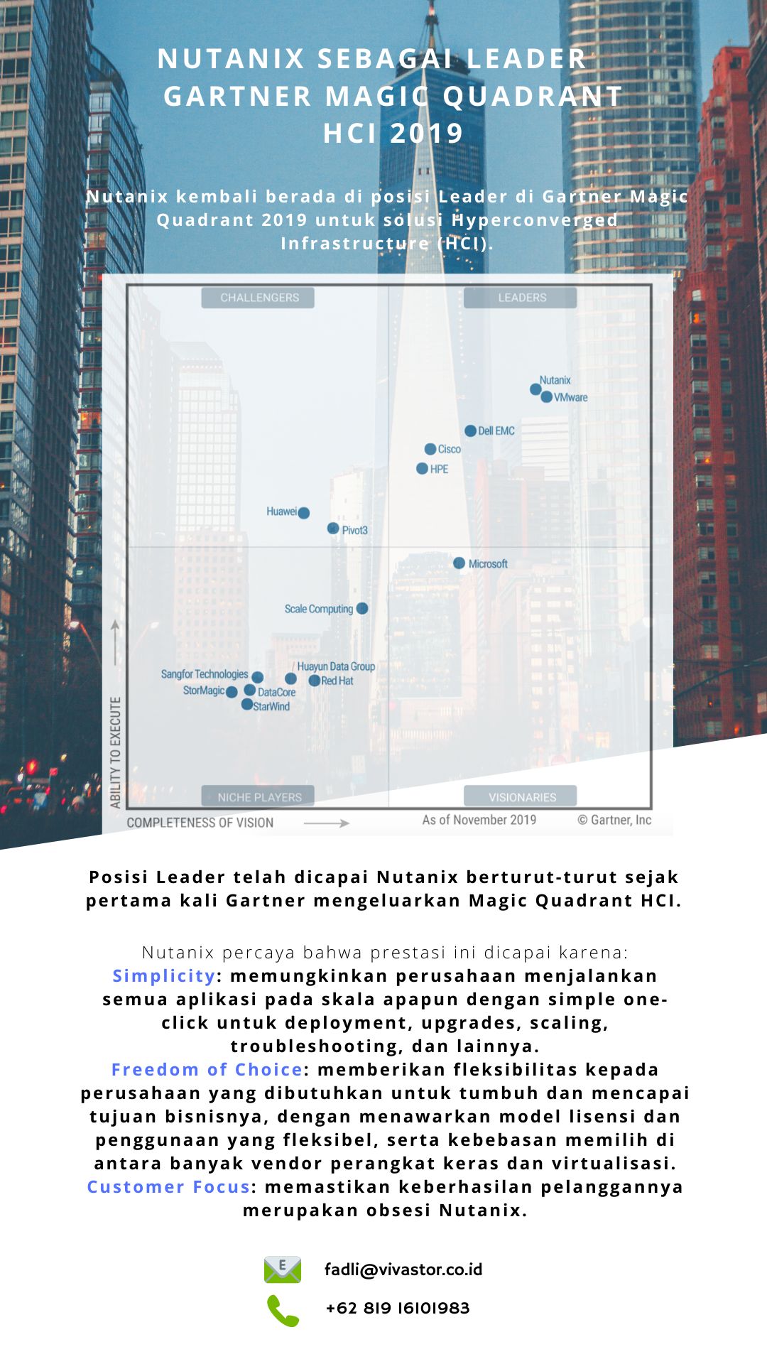 Nutanix Sebagai Leader di Gartner Magic Quadrant HCI 2019
